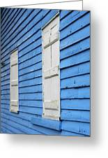 Old Blue House Greeting Card