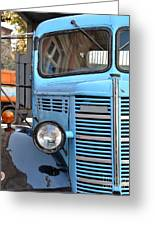 Old Blue Jalopy Truck Greeting Card