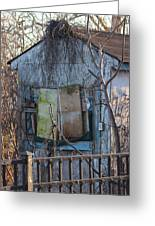 Old Blue Shack Greeting Card