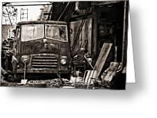 old BMC diesel Greeting Card