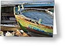 Old Boat - Lebanese Artist Zaher El- Bizri Greeting Card