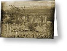 Old Boothill Cemetery Greeting Card