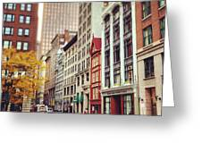 Old Boston Greeting Card
