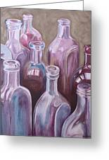 Old Bottles Greeting Card by Kathy Weidner
