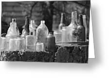 Old Bottles Greeting Card