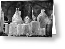Old Bottles Two Greeting Card
