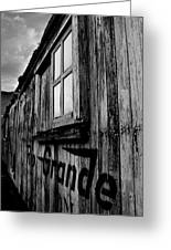 Old Box Car Greeting Card
