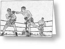 Old Boxing Old Time Greeting Card