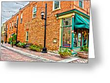 Old Brick Greeting Card by Baywest Imaging
