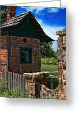 Old Brick Shed Greeting Card