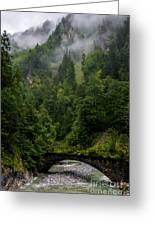 Old Bridge - Austrian Alps - Austria Greeting Card