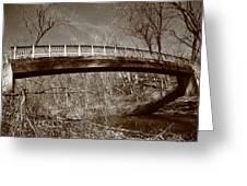 Old Bridge In Autumn Greeting Card