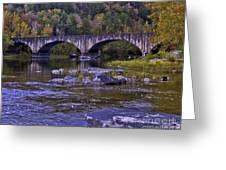 Old Bridge Two Greeting Card