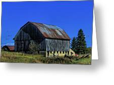 Old Broken Down Barn In Ohio Greeting Card