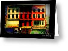 Old Buildings 6th Avenue - Vintage Nyc Architecture Greeting Card
