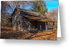 Old Cabin In The Woods Greeting Card
