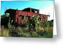 Old Caboose Greeting Card by Julie Dant