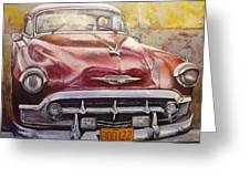 Old Cadillac Greeting Card