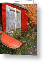 Old Canoe Greeting Card