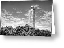 Old Cape Henry In Black And White Greeting Card