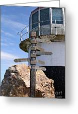 Old Cape Point Lighthouse In South Africa Greeting Card