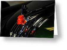 Old Car Emblem 2 Greeting Card by T C Brown