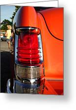 Old Car Tail Light Greeting Card