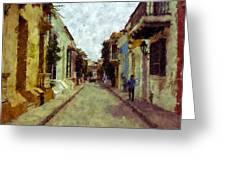 Old Cartagena 1 Greeting Card
