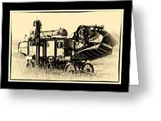 Old Case Thresher Greeting Card