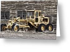 Old Cat Grader Greeting Card