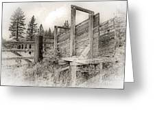 Old Cattle Ramp Greeting Card