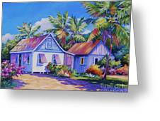 Old Cayman Cottages Greeting Card