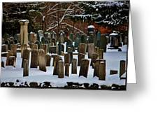 Old Cemetery Lancaster Ma Greeting Card