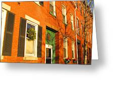 Old Charestown Neighborhood Greeting Card