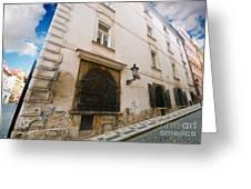 Old Charming Street In Prague Greeting Card