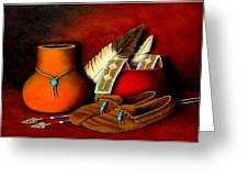 Old Cherokee Moccasins Greeting Card