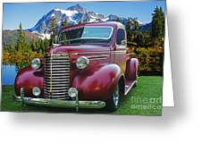 Old Chevy Pickup Ca5073-14 Greeting Card