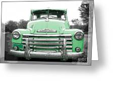 Old Chevy Pickup Truck Greeting Card