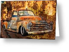 Old Chevy Rust Greeting Card