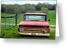Old Chevy Truck Greeting Card