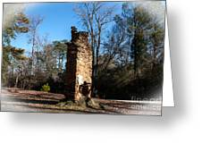 Old Chimney Still Standing Greeting Card