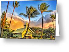 Old Church At Honokawai Maui Greeting Card