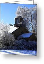 Old Church In Ice Greeting Card