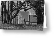 Old Church In The Hill Greeting Card