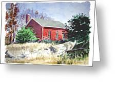 Old Church Schoolhouse  Greeting Card