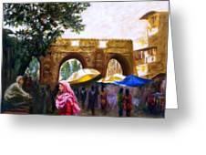 Old City Ahmedabad Series 6 Greeting Card