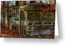 Old City Bus Greeting Card by Paul Herrmann