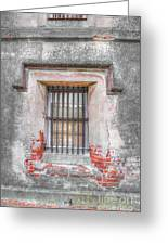 The Old City Jail Window Chs Greeting Card