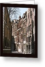 Old City Street Scene In London Greeting Card