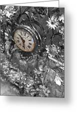 Old Clock Greeting Card